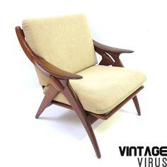[:en]Vintage design armchair The Knot by De Ster Gelderland[:nl]Vintage design fauteuil De Knoop door De Ster Gelderland