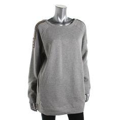 Kiind Of Womens Emile Fleece Embellished Sweatshirt