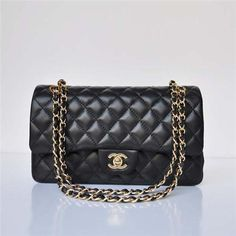 Ultimate goal list: one day I will treat myself to a Chanel 2.55 Black Lambskin Leather and Gold Hardware