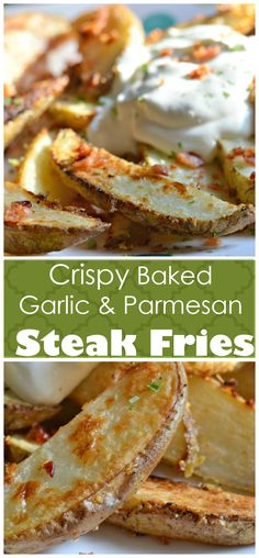 ... Garlic Parmesan Fries on Pinterest | Parmesan, Oven Baked Fries and