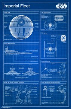 Star Wars- Imperial Blueprint Posters at AllPosters.com