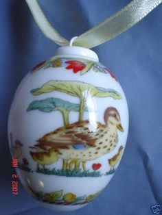 Beautiful German Porcelain (Egg Shape)Ornament called The Egg.   It was Design by :Ole Winther Hutschen,Germany.  Hutschenreuther.