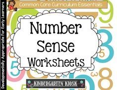 You will love these adorable number worksheets that will help your students develop that important number sense.The worksheets are double sided for optimum use of space!