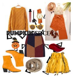 """pumpink spice 🎃🎃"" by andaraneswari ❤ liked on Polyvore featuring Nika, La Marque, STELLA McCARTNEY, Dorateymur, Old Navy, Kat Von D, Jouer, CÉLINE, Tory Burch and Fitz & Floyd"