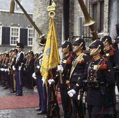 Colour party, dutch marines 1980