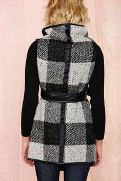 Stockholm Plaid Wrap Coat - Clothes |  | Jackets + Coats
