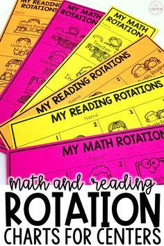 Organization for your math rotations and reading rotations is easy with these mini student rotation charts. Plan the schedule