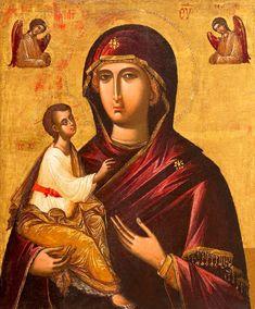 Veneto-Cretan, Virgin & Child H. Byzantine Art, Orthodox Icons, Virgin Mary, 16th Century, Fresco, Roman, Mona Lisa, Saints, Photo Wall
