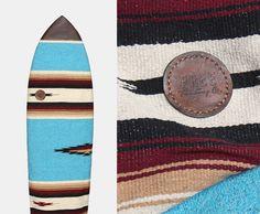 CUSTOM Upcycled Hand Woven Blanket Rug Surfboard by FreeTradingCo