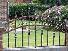 Metal railings Manchester - http://www.dhgates.co.uk/wrought-iron-gates-and-railings/iron-garden-side-gates/