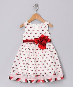 White Heart Dress - Infant, Toddler & Girls