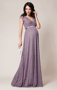 ec6b3c3905d Kristin Maternity Gown Long Wisteria by Tiffany Rose- Military Ball  Maternity Evening Gowns