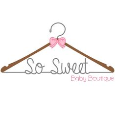 Premade sewing logo, design watermark, baby clothing boutique logo, by logocreation on etsy