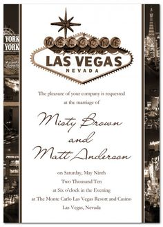 Viva Las Vegas Wedding Invitation - Premium Ultra Thick Cardstock from www.papersnaps.com    http://www.papersnaps.com/viva-las-vegas-wedding-invitation.html  #VegasWedding