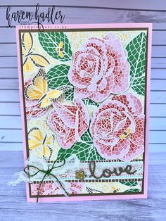 This amazing Speciality Designer Series Paper is just so beautiful Bees, Stamping, Mosaic, Card Making, Paper Crafts, Mood, Fall, Amazing, Happy