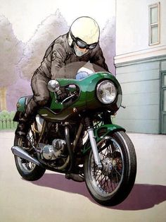 Triumph Bonneville Cafe Racer. This is the target image for my Bonnie.
