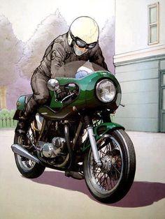 Triumph Bonneville Cafe Racer. This is the target image for my Bonnie.