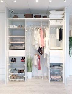 Innredningsløsning fra Skapnett Closet Bedroom, Bedroom Decor, Closet Remodel, Teenage Room, Built In Wardrobe, Minimalist Bedroom, New Room, House Rooms, Small Apartments