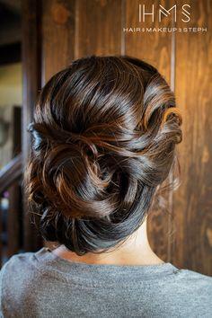 Updo - simple and nice Elegant Wedding Hair, Wedding Hair And Makeup, Bridal Hair, Hair Makeup, Creative Hairstyles, Up Hairstyles, Pretty Hairstyles, Wedding Hairstyles, Love Hair