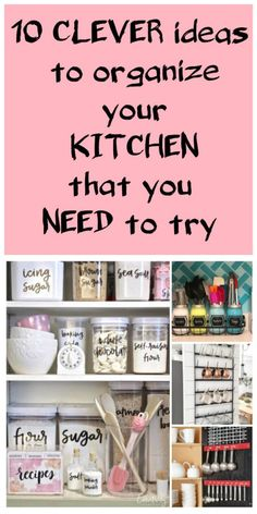 10 clever ideas to organize your kitchen that you need to try - HASHTAG-LIFE