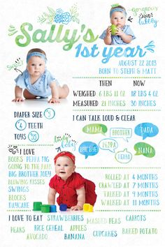 Watercolor First Birthday Poster/Party by SmallDeskBigIdeas