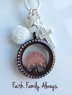 Faith Family Always <3 So so cute!! Origami Owl.. www.ilovethatlocket.origamiowl.com Designer #34110