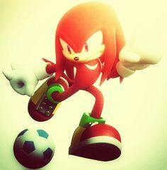 Knuckles plays football!