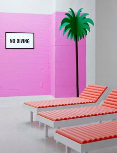 "<p>Isabel and Helen is a creative partnership based in London that specializes in set design and interactive installations. Their colorful, playful style comes across clearly in the series ""No Diving"" for Shine Bright Studios at the Truman Brewery in London. The artists created a hyperreal, immersive environment inspired by the poolside paintings of David Hockney. […]</p>"