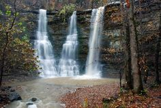 Twin Falls when it's high enough water to be Triple Falls