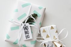 20 Gorgeous Gift Wrap Ideas. Add a handmade and personalized touch this holiday season. Shop our Cyber Monday 2015 Sale for everything from holiday hand lettered gift tags to seasonal and Christmas gift wrap. #Shopping #Deals
