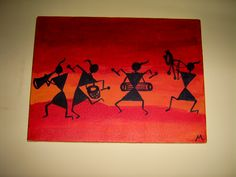 These kinds of colorful Warli figures look amazingly modern and help preserve their traditional origin at the same time. Description from hobbyworkshops.blogspot.ca. I searched for this on bing.com/images