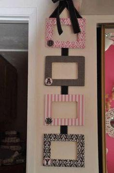 Diy Photo Frame Cardboard, Picture Frame Crafts, Cardboard Box Crafts, Paper Crafts, Paper Photo Frame Diy, Paper Picture Frames, Photo Frames Diy, Photo Frame Ideas, Diy Karton