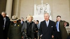 Prince charles and the duchess visit the lincoln memorial