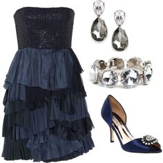 Have a dress like this, now I just need the shoes and jewelry