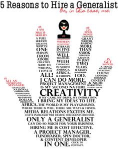 5 Reasons to Hire a Generalist Writer, Language, Let It Be, Island, Learning, Sayings, People, Lyrics, Sign Writer
