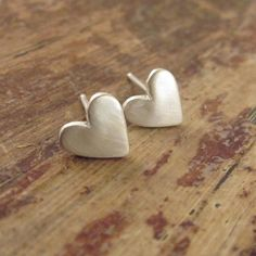 Valentine's Day Jewelry Medium Heart Earrings Sterling Silver Earring Heart Studs Post Hearts Valentine's Day Gifts for Her Women Teen Girls