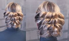 """Hairstyles on elastic bands - """"Bubbles"""" - Hairstyles by REM 5 Minute Hairstyles, Dance Hairstyles, Princess Hairstyles, Braided Hairstyles For Wedding, Russian Hairstyles, Softball Hair Braids, Side Braid Wedding, Medium Hair Styles, Long Hair Styles"""