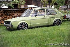 Green VW Golf Mk1   by Retro-Motoring & WoertherseePics