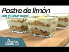 POSTRE DE LIMÓN con galletas María - Postres fáciles y rápidos SIN HORNO - YouTube