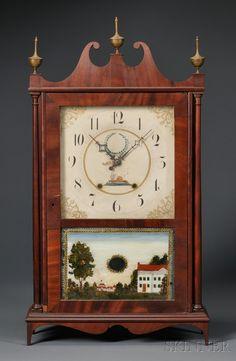 Mahogany Veneer Pillar and Scroll Shelf Clock Clocks For Sale, Old Clocks, Antique Clocks, Farmhouse Clocks, Clock Shop, Time Clock, Tic Tac, Color Shapes, Beehive