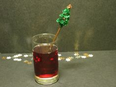 Make your drinks even more festive with a christmas tree cocktail stirrer!!!