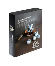 Cage Sents Stainless Steel Whiskey Stones in a perfect gift for the person that loves to drink.   They come as a set of 8 with Storage Box and Tongs.  Use these chilling rocks for sipping vodka, gin, rum, liquors, soda, as well as carbonated drinks.