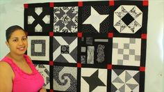 Follow Crafty Gemini's lead and learn how to set up a design wall to arrange quilt blocks and how to measure sashing strips for your sampler quilt project!