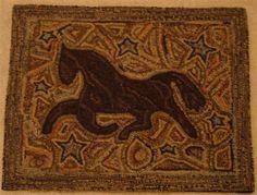 Primitive Wool Hooked Rugs Patterns Ebay Rug Hooking