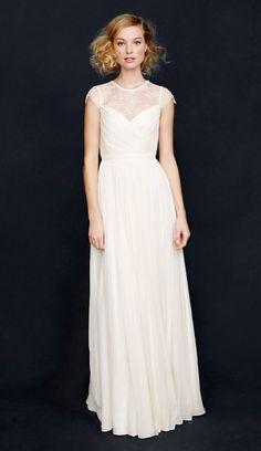 024999b4de4a 3 minimalist wedding dresses jcrew 0922 Svatební Den