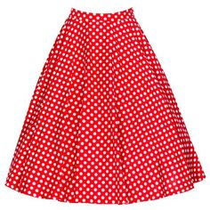 cool   Lindy Bop Women's 'Peggy' Vintage Fifties Style Polka Dot Full Circle Skirt (L, Red) #fashion #beauty #lifestyle #vintage #beverage #vintagedress #hair #nails
