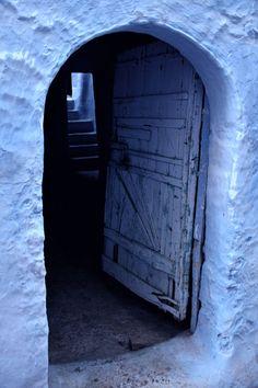 beautiful blue doorway     Chefchaouen, Morocco
