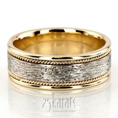 Antique Rough Finish Handmade Wedding Ring
