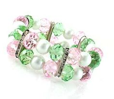 Pretty In Pearls Pink And Green http://www.pinkmeadow.com/view.php?serialnumber=6121 Pink Meadow