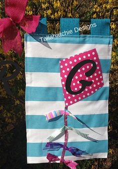 Spring Garden Flag Kite Garden Flag by TallahatchieDesigns on Etsy